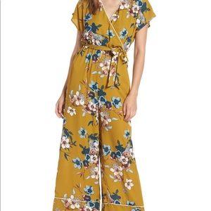 Nordstrom Brand Leith Floral Jumpsuit